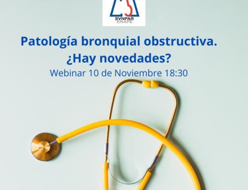 Webinar Patología bronquial obstructiva. ¿Hay novedades? (10 Noviembre 18:30)
